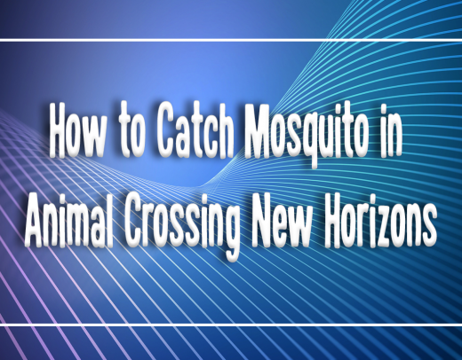 animal crossing how to catch mosquito